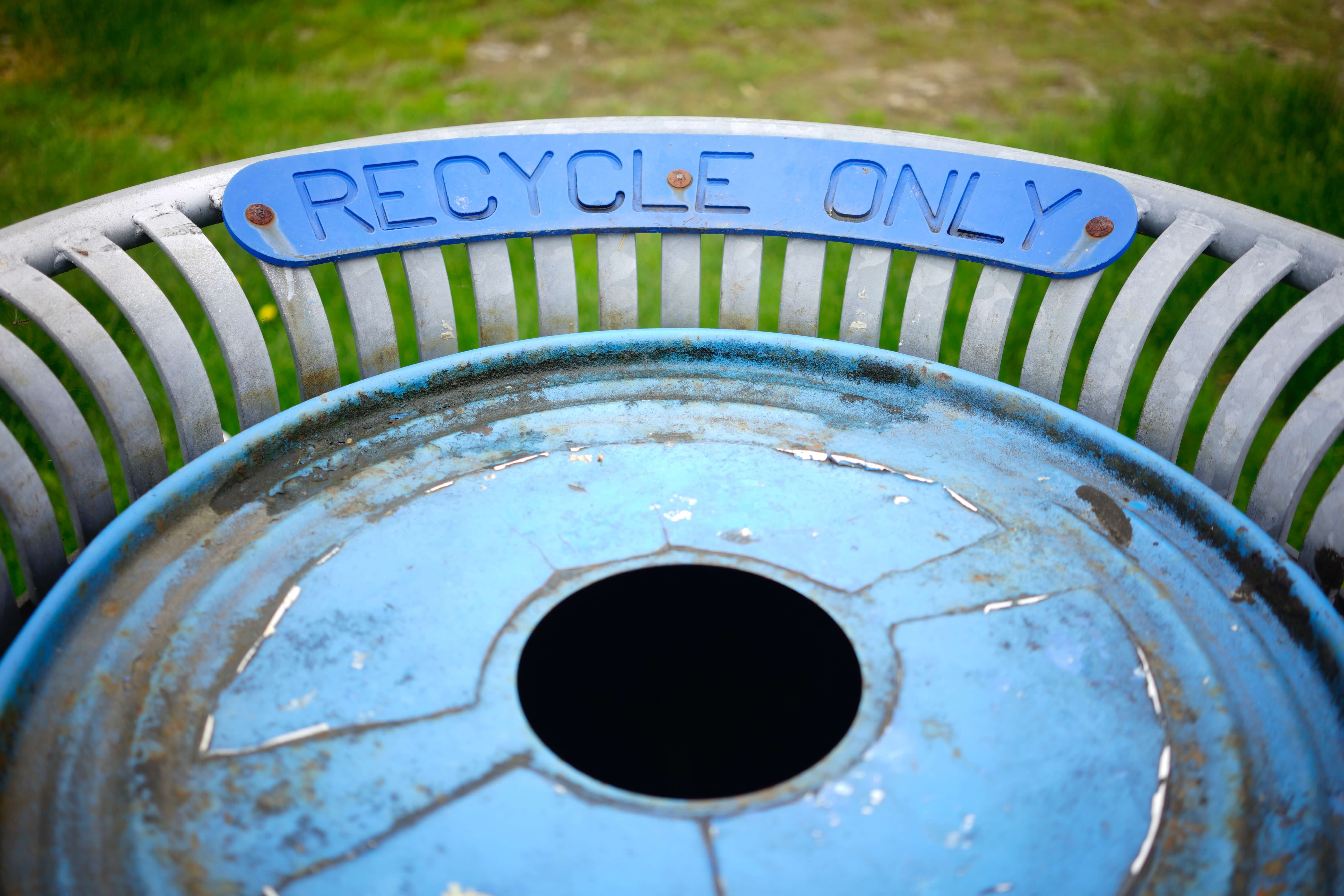 Recycle Only Can in Park